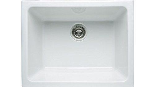 Rohl Allia Fireclay Double Bowl Undermount Kitchen Sink Rack