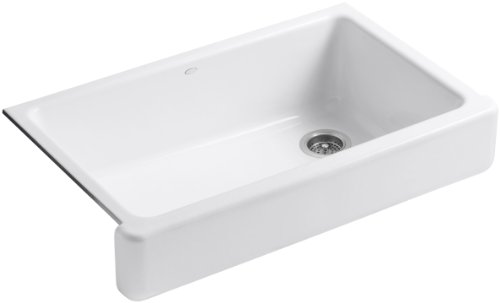 ... Apron Front Single Basin Sink with Short Apron, White Farmhouse Sink