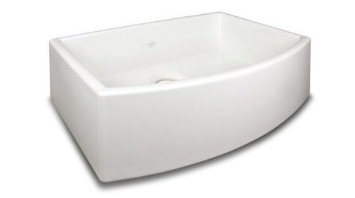 Rohl RC3021 Shaw 30u2033 Single Basin Farmhouse Fireclay Kitchen Sink, White