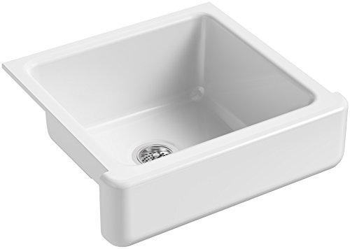 KOHLER K 5664 0 Whitehaven Self Trimming Undermount Single Bowl Kitchen Sink