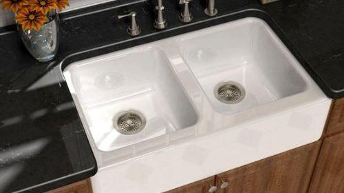 Song S 8840 4U 70 Serenade 33u2033 X 22u2033 X 9u2033 Cast Iron Double Bowl Farmhouse  Apron Sink, White