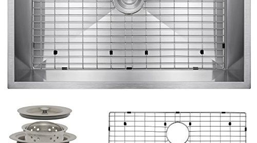 Perfetto Kitchen And Bath 30u2033 Undermount Single Bowl 16 Gauge Stainless  Steel Kitchen Sink With Drain And Dish Grid