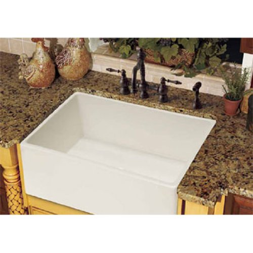 Franke FHK710-33WH Farm House Fireclay 33″ Single Bowl Apron Front Kitchen Sink, White