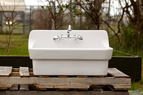 Vintage Style High Back Farm Sink Original Porcelain