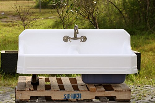 1934 Large 51″ Refinished Double Farm Sink Deep Basin
