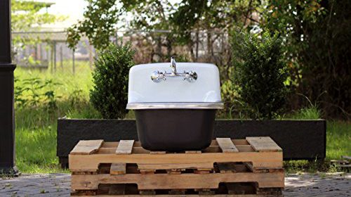 Refinished Antique Inspired Utility Sink Deep Basin Cast Iron